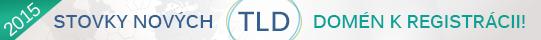 Registrácia nových TLD domén